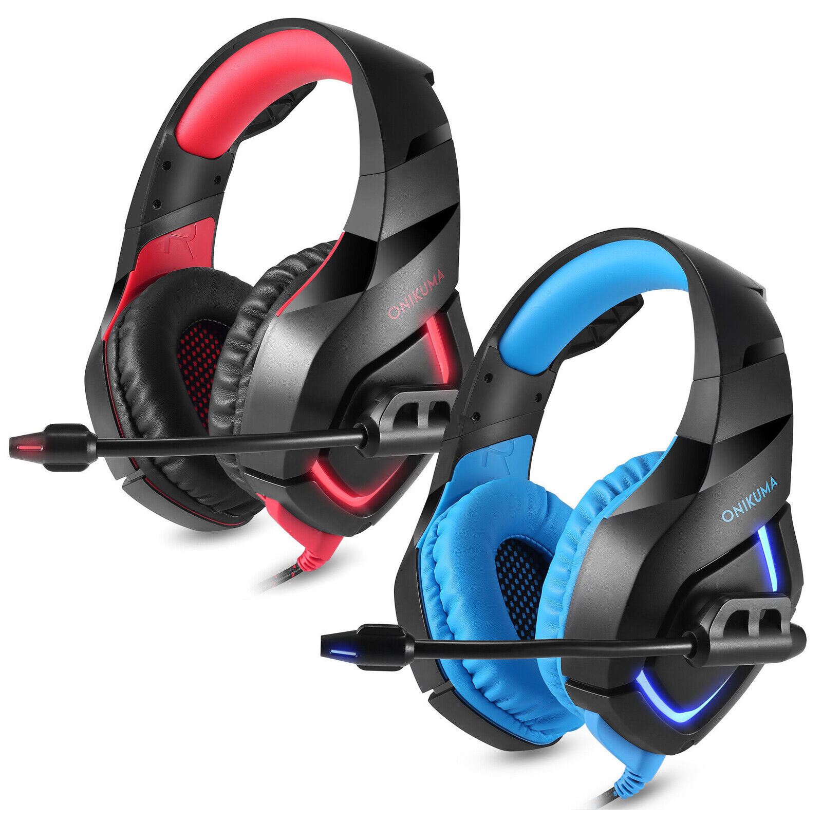 USA ONIKUMA K1 Stereo Bass Surround Gaming Headset with Mic for PS4 Xbox One PC