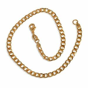 Chunky New 9CT Gold Filled Solid Open Curb  Anklet  B6