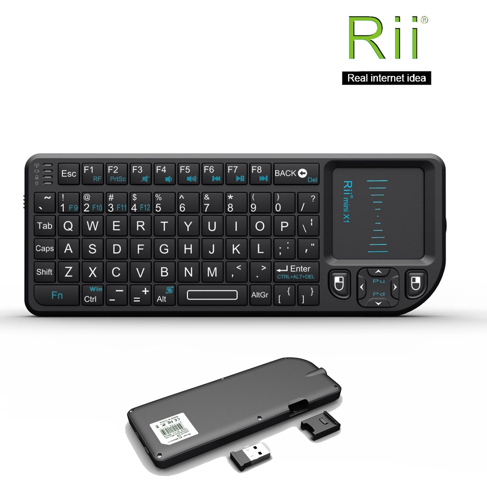 Besay Mini i10 2.4G Air Mouse Wireless Keyboard with Touchpad Black