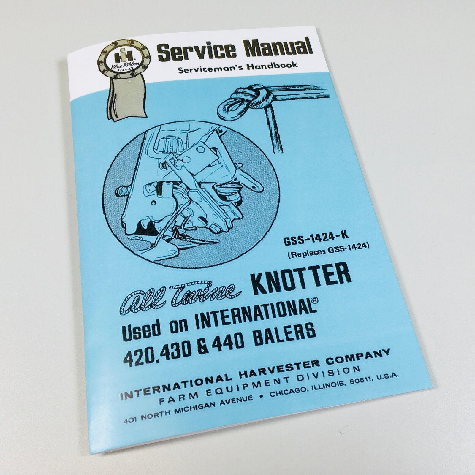 ih international 430 440 baler service operators owner adjustment rh  picclick com