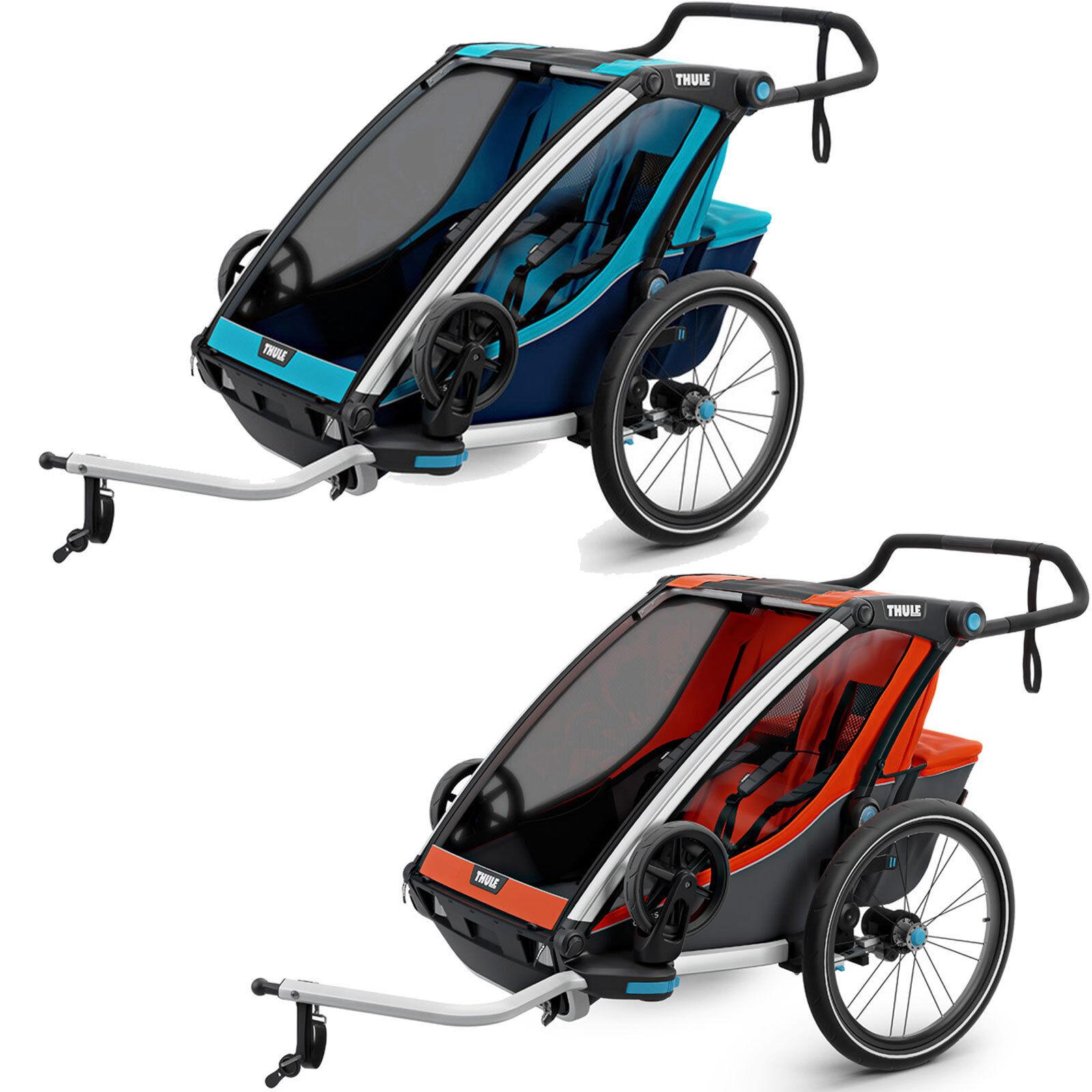 Thule Chariot Cross 2 Fahrradanhänger Multisport-Anhänger Zweisitzer Kinder NEU