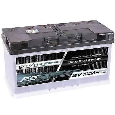 DiVine F5 12V 100Ah Batterie für Boot Yacht Schiff Marine Antrieb Alarm Hobby