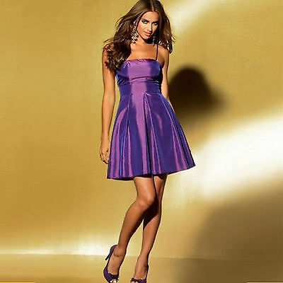ABIBAL TAFT Minikleid Cocktailkleid Partykleid Abendkleid KLEID LILA Gr.32/34 XS online kaufen