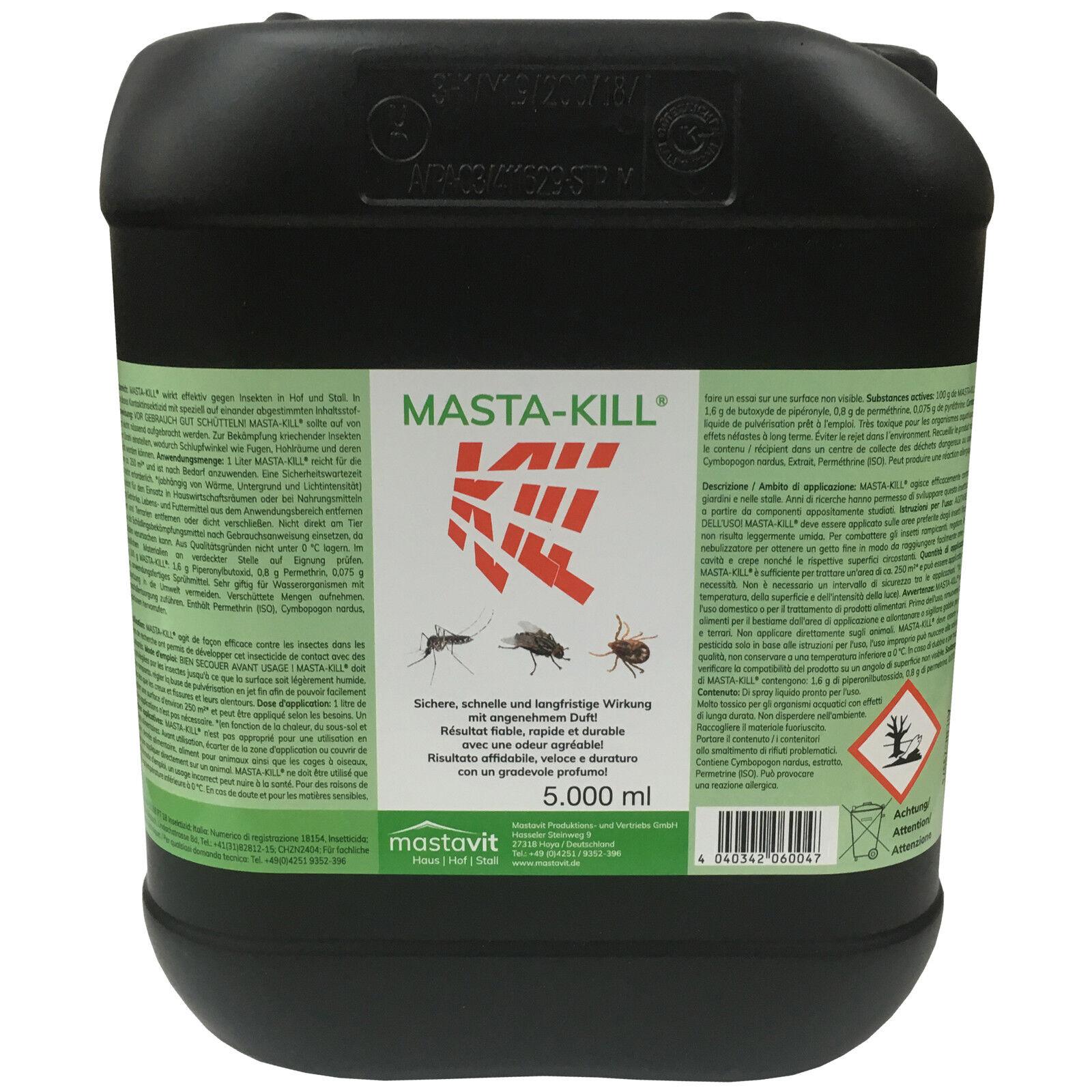 Masta Kill 5 L Masta-Kill 5000 ml Insektenvernichter Fliegenschutz Insektizid
