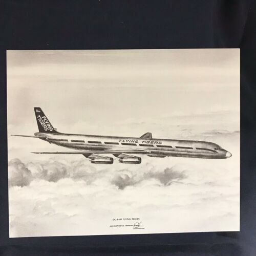 Vintage McDonnell Douglas DC-8-63F Flying Tigers Vendor Aircraft Print