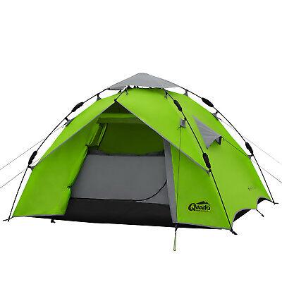 2 Mann Zelt QEEDO Quick Ash 2 Sekundenzelt Campingzelt Igluzelt Pop Up - grün