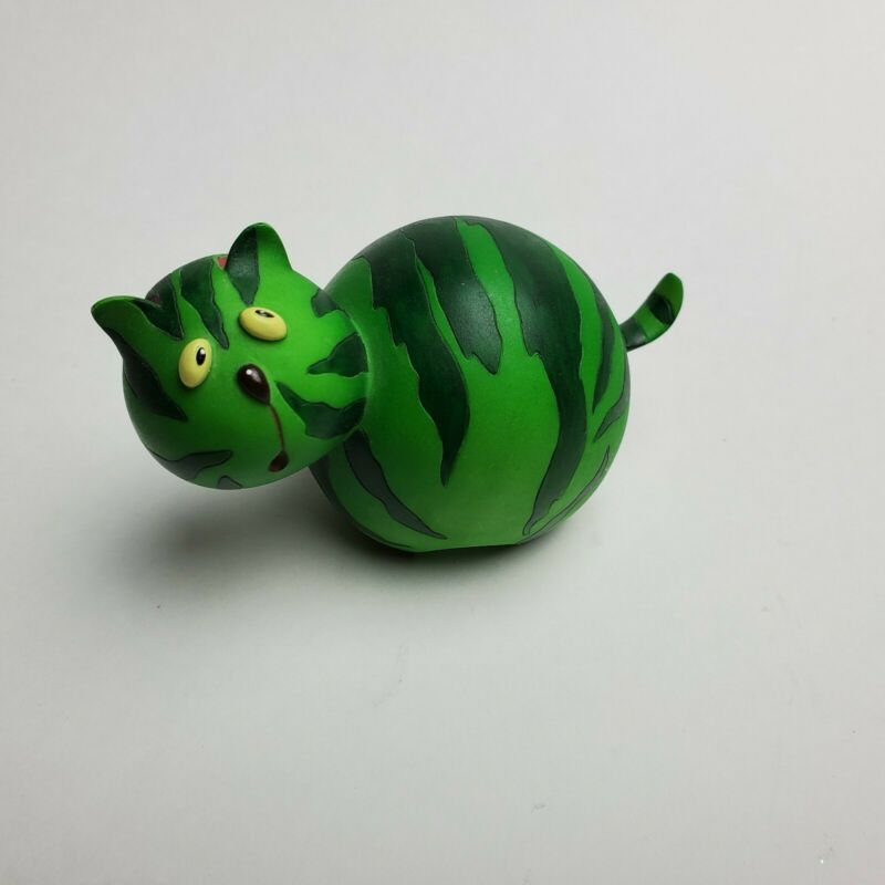 "Home Grown by Enesco Watermelon Cat Figurine 3"" Tall"