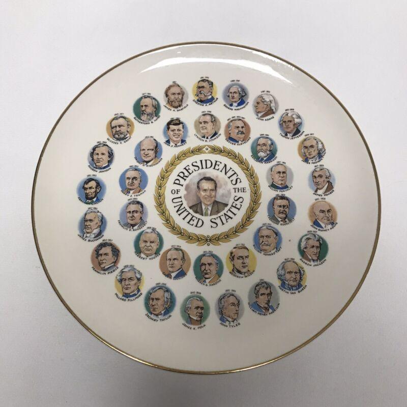 Vintage 1969 Richard Nixon Presidents Of The United States Commemorative Plate