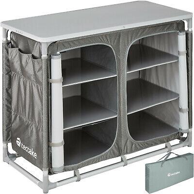 Cocina de camping Aluminio Compartimentos Plegable con Paravientos Tablero