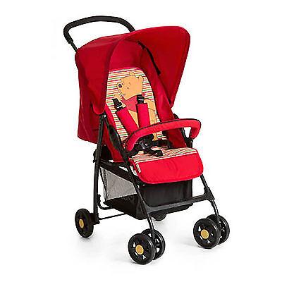 HAUCK POOH SPRING RED LIGHTWEIGHT BABY SPORT PUSHCHAIR STROLLER FROM BIRTH