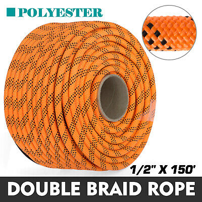 """14 Feet NEW 1//2/"""" Double Braid Rope 8400Lbs BREAKING STRENGTH New Stock 2018"""
