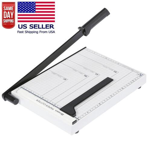 Heavy Duty Paper Cutter A4 Paper Trimmer White Photo Guillotine Craft Machine US