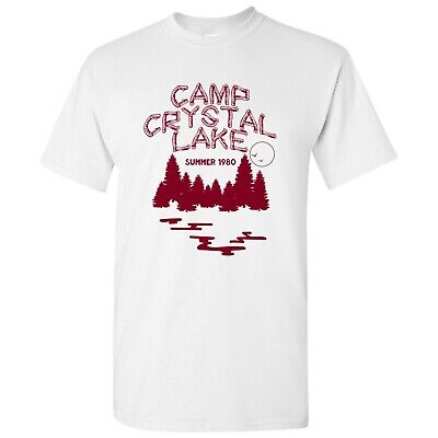 Camp Crystal Lake - Funny 80s Horror Movie Halloween T Shirt