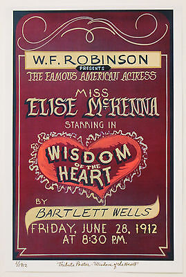 WISDOM of the HEART~TRIBUTE POSTER~Somewhere In Time~Ltd Ed of 1912~Jane Seymour