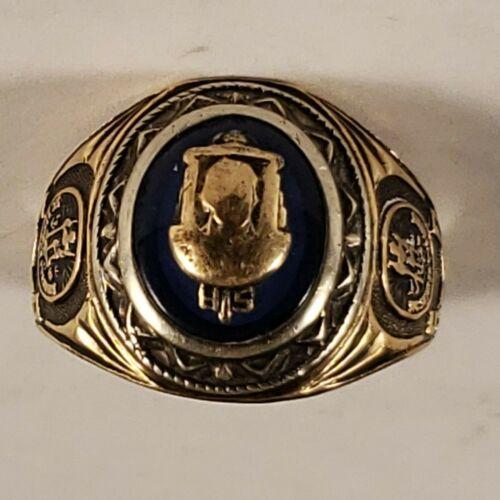 VINTAGE 1950 10K GOLD CLASS RING VIRGINIA HIGH SCHOOL 8.4 GRAMS