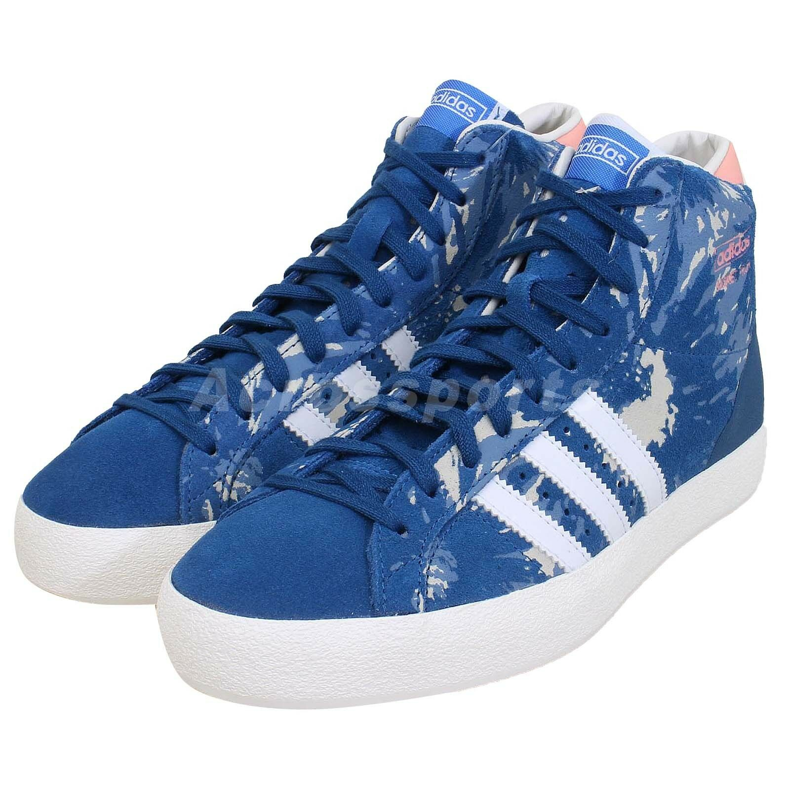 best sneakers 39748 b261b Adidas Originals Basket Profile Hi-Top Trainers Lace Up Womens Boots Size 4  UK