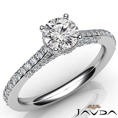Circa Halo Pave Setting Round Diamond Engagement Ring GIA Certified F SI1 1.15Ct 5