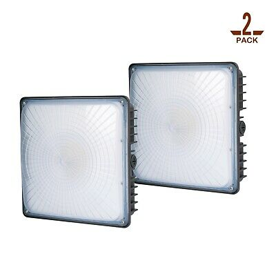 2 Pack 80w Led Canopy Light Neutral White Gas Station Garage Ceiling Lighting