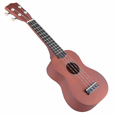 "21"" Wood Soprano Ukulele Guitar Sapele 12 Frets Hawaiian Instrument"