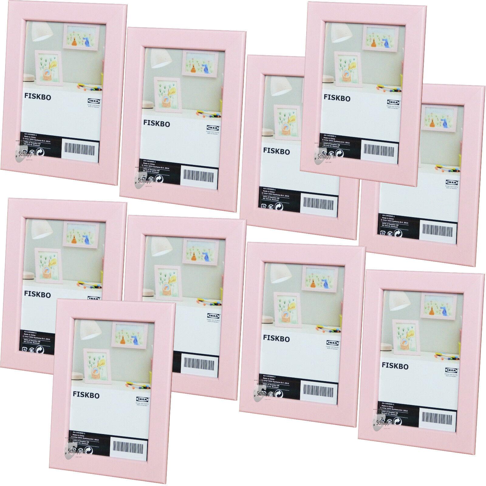 5 Stück Set IKEA FISKBO 13x18cm Fotorahmen Rosa Bilderrahmen NEU