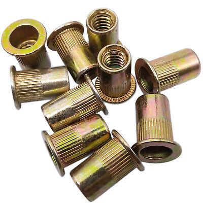 Us Stock 20pcs M8 X 1.25 X 21mm Lfk Steel Rivet Nut Rivnut Insert Nutsert