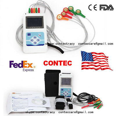 Usa Ship 3 Channel 12 Lead Ecgekg Holter Monitor Systemdynamic Ecg Systemsw