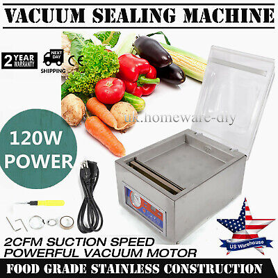 New 120w 10 Commercial Vacuum Sealer Food Sealing Machine Home Packing Pressure