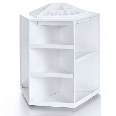 Revolving Rotating Cosmetic Carousel Makeup Storage Organizer 6 Sides 1-3 Shelf 1 Side Shelf