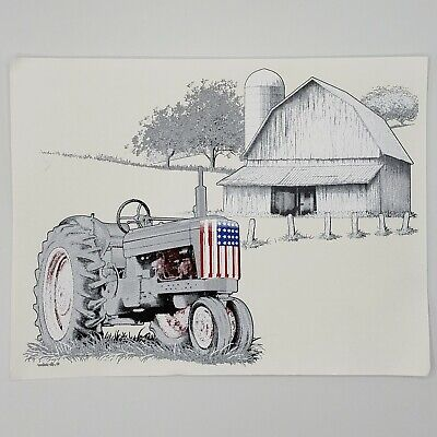 Lot Of 2 Air Waves Patriotic Tractor Barn T Shirt Iron On Transfers
