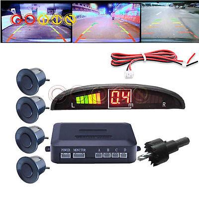 Park Sensor - Black LED Display Car 4 Parking Sensor Reverse Backup Radar Alarm System Kit
