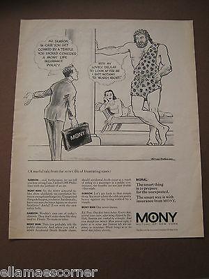 Vintage 1969 Mony Mutual Of New York Life Insurance Magazine Print Ad