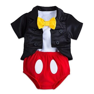 Disney Parks Mickey Mouse Tuxedo Costume Baby Bodysuit Halloween Dress Up Boy](Baby Mouse Costume Halloween)
