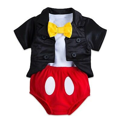 Disney Parks Mickey Mouse Tuxedo Costume Baby Bodysuit Halloween Dress Up - Mickey Mouse Baby Costume Halloween