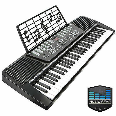 61 Key Electronic Music Electric Keyboard Piano - Black on Rummage
