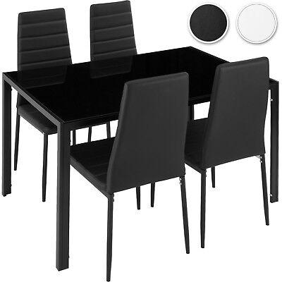 Esszimmergruppe Essgruppe 4 Stühle Sitzgruppe Esstisch Esszimmer Stuhl Tisch