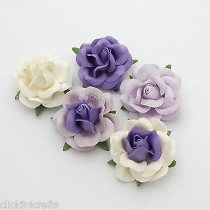 25-Paper-Flowers-Wedding-Party-Headpiece-Home-Card-Home-Decor-Basket-R77-601