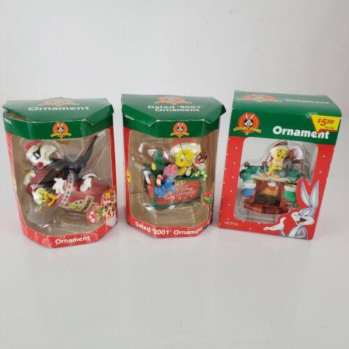 Three Looney Tunes Tweety Bird Christmas Ornaments By Trevco & Matrix