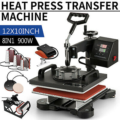 8 In 1 Heat Press Machine Swing Away Digital Sublimation T-shirt Mug Hat Plate