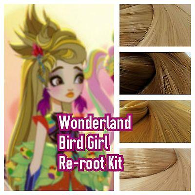 Ever After High Wonderland Bird Girl Reroot Nylon Hair Kit for OOAK Doll
