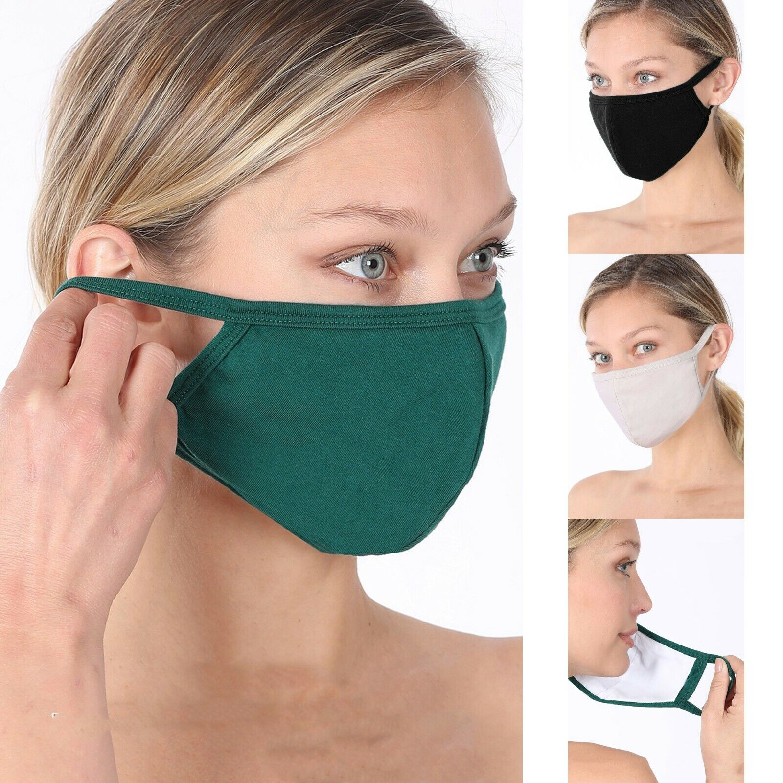 Soft Cotton Face Mask Double Layer with pocket Reusable Washable Fashion Women Health & Beauty