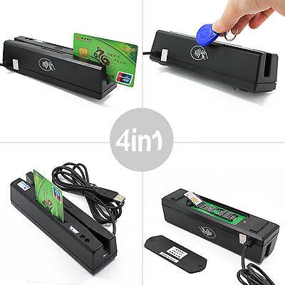 Yl160 4-in-1 Magnetic Card Reader Emvic Chiprfidpsam Reader