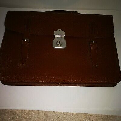Vintage Cheney Brown Leather Briefcase /documents