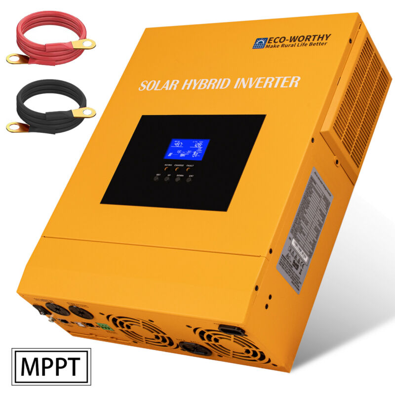 3500W Watt All-In-One Solar Charge Inverter 110V AC Built-In 80A Mppt Controller