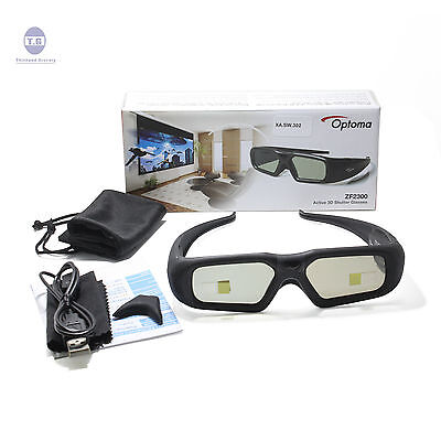 Original New Optoma Projector Rechargeable Active Shutter 3D Glasses ZF2300