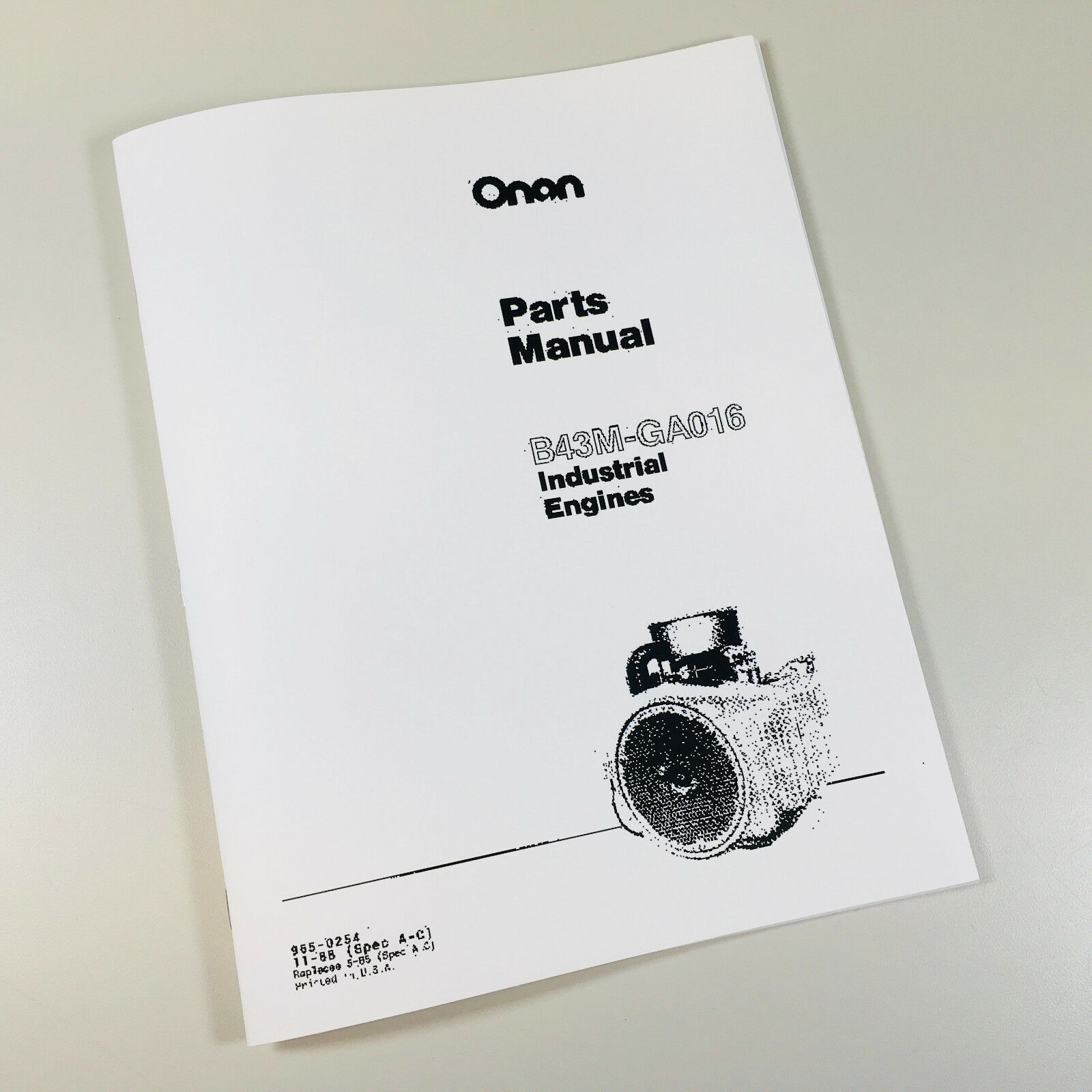 Details about CASE 446 GARDEN TRACTOR ONAN B43M GA016 INDUSTRIAL ENGINE  PARTS MANUAL CATALOG