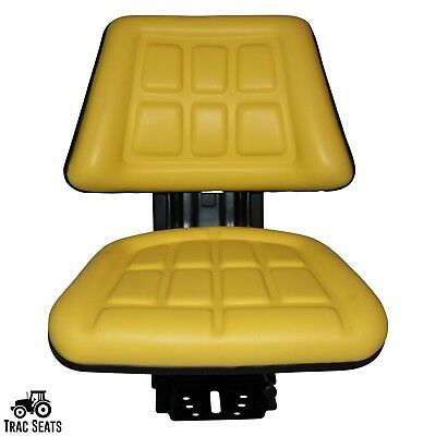 Yellow John Deere 2040 2040s 2120 2130 Triback Style Tractor Suspension Seat