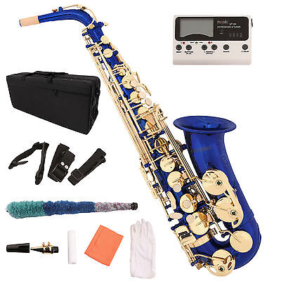 Alto Eb Saxophone Sax Lacquer Brass 2 Tone with Tuner Case Carekit Accessories