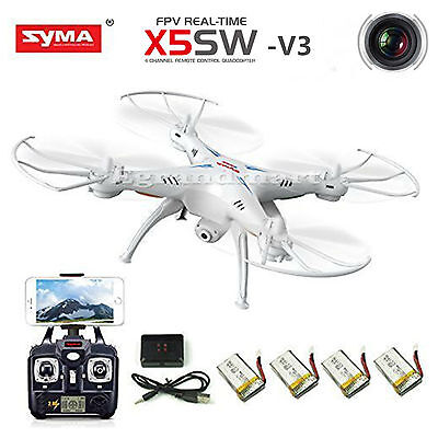Syma X5SW-V3 Wifi FPV RC Drone Quadcopter 2.4Ghz 6-Axis Gyro with Headless Fashion
