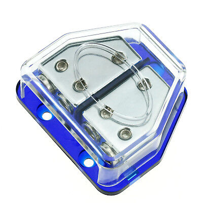 Power Cable Terminal Solid Ground Distribution Block Platinum Plated High Qualit ()