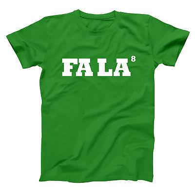 Fa La 8 Funny  Merry Christmas  Xmas  Outfit Green Basic Men's T-Shirt